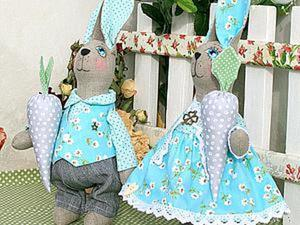 Шьём милых мятных кроликов. Часть 2: одежда. Ярмарка Мастеров - ручная работа, handmade.