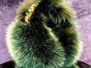 Наушники из зеленого песца. Ярмарка Мастеров - ручная работа, handmade.