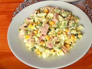 Салат из колбасы с сыром, огурцами и яйцами. Ярмарка Мастеров - ручная работа, handmade.