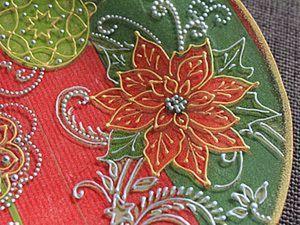 МК Новогодняя тарелка. Ярмарка Мастеров - ручная работа, handmade.