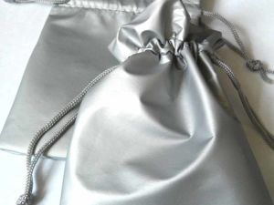 Новинка в магазине: серебристые мешочки из искусственной кожи. Ярмарка Мастеров - ручная работа, handmade.