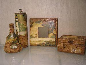 Пробковая подложка в декорировании предметов. Ярмарка Мастеров - ручная работа, handmade.