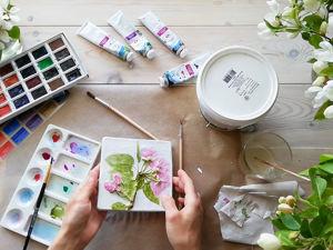 Видео мастер-класс: Отпечаток растений на гипсе для панно. Ярмарка Мастеров - ручная работа, handmade.