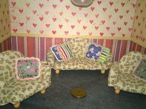 Создаем диван и кресла в масштабе 1:12: видеоурок. Ярмарка Мастеров - ручная работа, handmade.