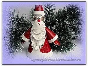 Дед Мороз из кожи. Ярмарка Мастеров - ручная работа, handmade.