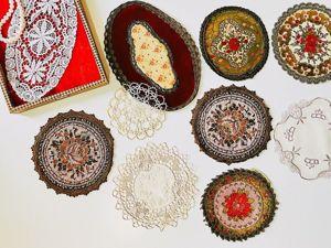 Отдаю коллекцию редких салфеток в старинной шкатулке!. Ярмарка Мастеров - ручная работа, handmade.