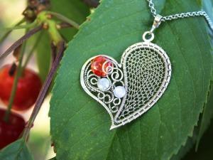 """Создаем изящный кулон """"Сердце"""". Ярмарка Мастеров - ручная работа, handmade."""