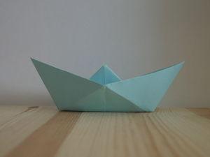 Оригами. Как сделать кораблик из бумаги (видео урок). Ярмарка Мастеров - ручная работа, handmade.