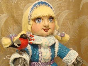 Снегурочка со снегирем. Ярмарка Мастеров - ручная работа, handmade.