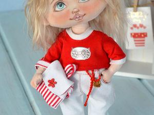 Текстильная кукла. Рост 32 см. Ярмарка Мастеров - ручная работа, handmade.
