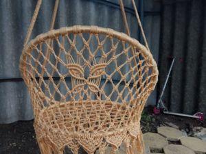 Как сплести подвесное садовое круглое кресло(качели) в технике макраме. Ярмарка Мастеров - ручная работа, handmade.