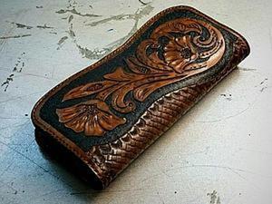 Создание кожаного кошелька для девушек. Ярмарка Мастеров - ручная работа, handmade.