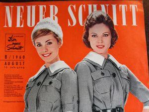 Neuer Schnitt — старый немецкий журнал мод 8/1960. Ярмарка Мастеров - ручная работа, handmade.