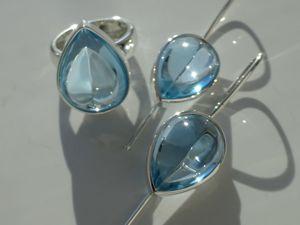 Комплект голубой топаз. Ярмарка Мастеров - ручная работа, handmade.