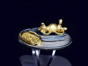 Аукцион на серебряное кольцо-шутку  «Жизнь прекрасна!» . Старт 3000 руб. Шаг 200 руб. Ярмарка Мастеров - ручная работа, handmade.