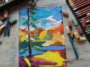 Как  рисовать пастелью на наждачной бумаге. Ярмарка Мастеров - ручная работа, handmade.