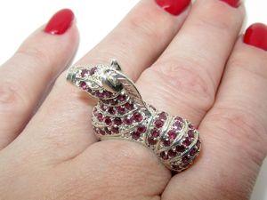 Серебряное кольцо с родолитом. Ярмарка Мастеров - ручная работа, handmade.