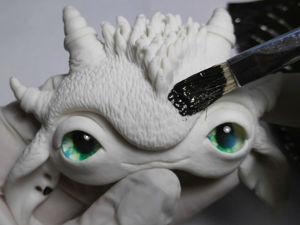 Процесс создания авторской игрушки из полимерной глины. Часть 3. Покраска. Ярмарка Мастеров - ручная работа, handmade.