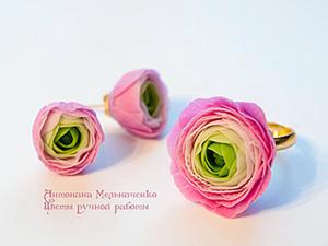 Цветы из холодного фарфора - Часть 4. Ранункулюсы. Ярмарка Мастеров - ручная работа, handmade.