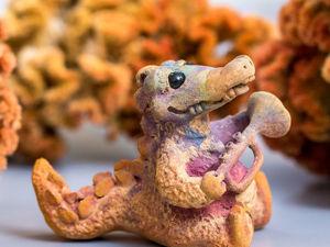 Изготовление фигурки «Крокодил Луи» из бронзовой глины. Часть 2. Обжиг и обработка. Ярмарка Мастеров - ручная работа, handmade.