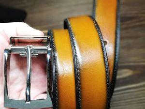 Кожаный ремень в наличии!. Ярмарка Мастеров - ручная работа, handmade.
