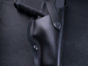 Поясная кобура для Glock 17 и модификаций. Ярмарка Мастеров - ручная работа, handmade.