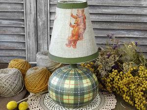 Переделка старой настольной лампы. Рисуем шотландскую клетку. Ярмарка Мастеров - ручная работа, handmade.