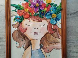 Создаем картину Девочка Лето. Ярмарка Мастеров - ручная работа, handmade.