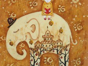 Сказка для Слона. Ярмарка Мастеров - ручная работа, handmade.