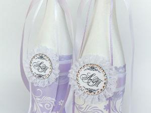 Свадебный бум продолжается. Декор свадебного шампанского. Часть 1. Ярмарка Мастеров - ручная работа, handmade.