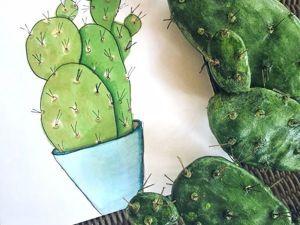 Лепим кактус из полимерной глины. Ярмарка Мастеров - ручная работа, handmade.