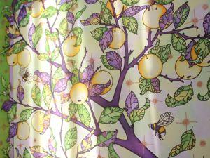Не только палантины. Крепдешиновый платок Наливные яблочки. Ярмарка Мастеров - ручная работа, handmade.