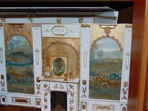 Мастерим красивый камин и настенные панели в кукольный домик. Ярмарка Мастеров - ручная работа, handmade.