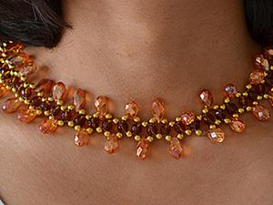 Мастер-класс: изготовление ожерелья из разных бусин. Ярмарка Мастеров - ручная работа, handmade.