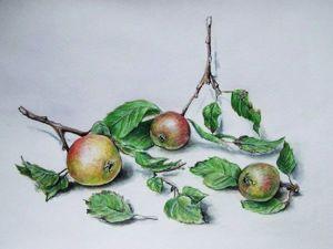 Видеоурок: рисуем дикие яблоки в технике «акварельная графика». Ярмарка Мастеров - ручная работа, handmade.