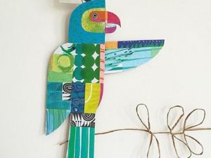 Cheerful Animals of Paper and Fabric by the Designer Clare Youngs. Livemaster - handmade