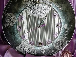 """Дизайнерские часы """"ГРЕЙС"""". Ярмарка Мастеров - ручная работа, handmade."""