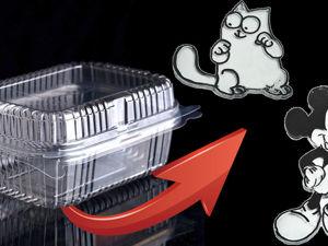 Мастерим интересные поделки из пластикового контейнера. Ярмарка Мастеров - ручная работа, handmade.
