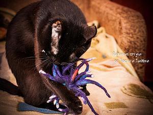 Валяем забавную игрушку для кота. Ярмарка Мастеров - ручная работа, handmade.