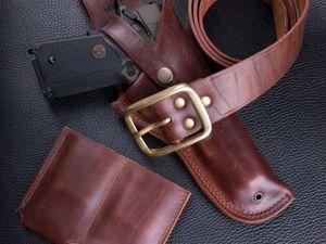 Комплект стрелка, кобура, пояс, подсумок Colt 1911. Ярмарка Мастеров - ручная работа, handmade.