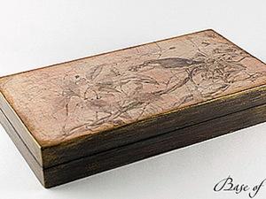 "Шкатулка ""Королек"". Мастер-класс от ""Base of Art"".. Ярмарка Мастеров - ручная работа, handmade."