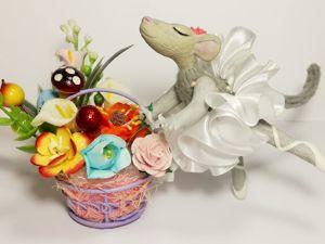 Лепим мышь из полимерной глины. Часть 3. Ярмарка Мастеров - ручная работа, handmade.
