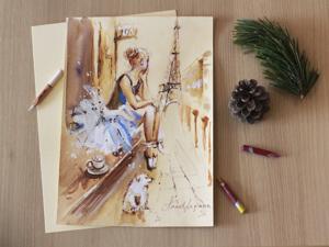 Вечерние зарисовки: картина с балериной. Ярмарка Мастеров - ручная работа, handmade.
