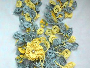 Прекрасные шарфики-букеты к  8 марта!!! Скидки на все шарфики выше 1000 руб!. Ярмарка Мастеров - ручная работа, handmade.