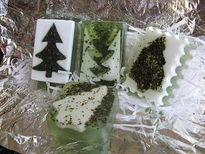 Создаем мыло «Ёлочка с морскими водорослями». Ярмарка Мастеров - ручная работа, handmade.