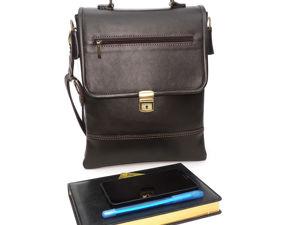 Только до 3 октября.  Большая распродажа мужских кожаных сумок со скидками до 50%. Ярмарка Мастеров - ручная работа, handmade.
