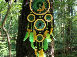 Ловец снов  «Джунгли» , 80 см. Ярмарка Мастеров - ручная работа, handmade.