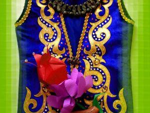 Казахская национальная жилетка. Ярмарка Мастеров - ручная работа, handmade.