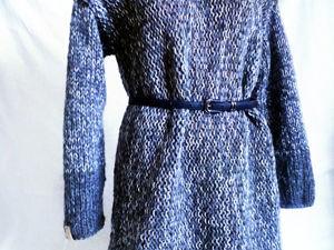 Стильное вязаное платье в наличии. Ярмарка Мастеров - ручная работа, handmade.