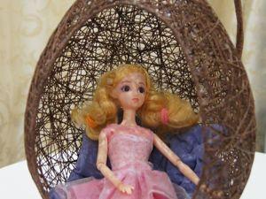 Как сделать оригинальное кресло-яйцо для кукол. Ярмарка Мастеров - ручная работа, handmade.